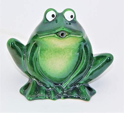 powershop11 Wasserspeier Frosch dunkelgrün Keramik 12 cm
