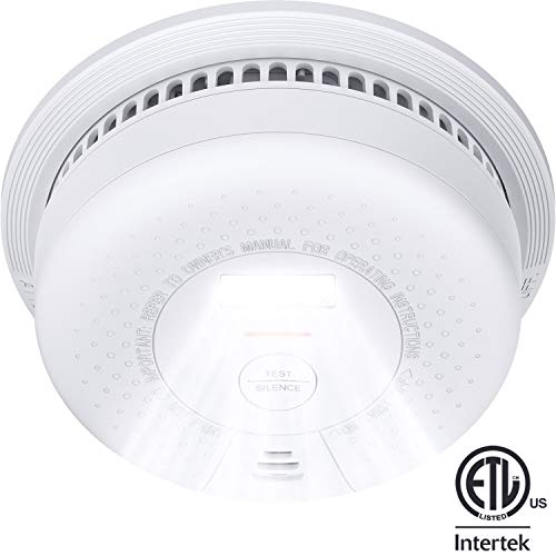 Smoke Detector XSense SD01 10Year Battery Not Hardwired Fire Smoke Alarm with Escape Light Compliant with UL 217 Standard