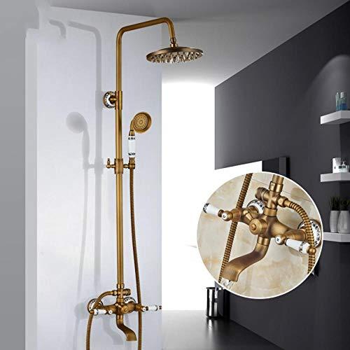 Antieke messing badkamer douche kraan douchekop buitendouche waterkraan mengen water
