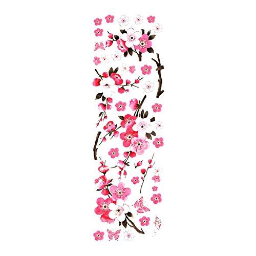 WeiMay. Adhesivo decorativo para pared, diseño de flores de cerezo con mariposas, 1 pieza