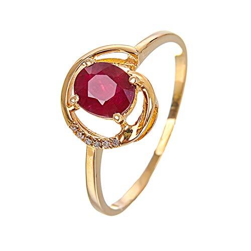 Ubestlove Ladies Wedding Rings Yellow Gold Links Of London Hope Ring Oval Ruby Ring Women L 1/2