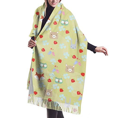 Bonita bufanda de invierno para mujer, diseño de oso de oso de peluche