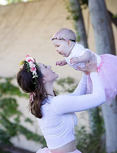 Dancina Falda Tutú Clásica de Ballet para Bebés 6-24 Meses Rosado Claro