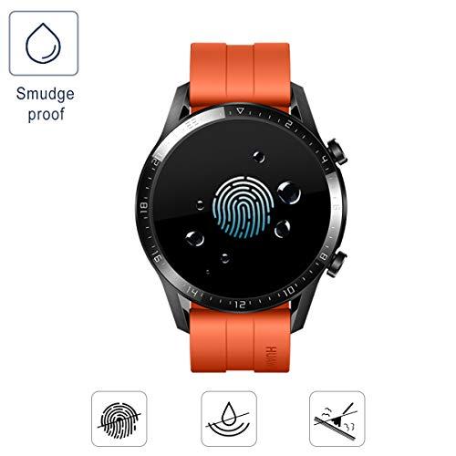 SPGUARD Schutzfolie Kompatibel mit Huawei Watch GT 2 46mm Schutzfolie [3 Stück] für Huawei Watch GT 2 46mm Panzerglas [2.5D 9H Härte] [Blasenfrei] - 6