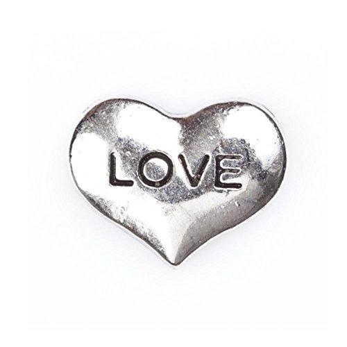 Memoria de estar Locket flotante de amor Collar de encanto