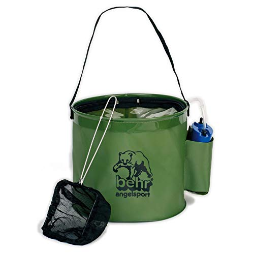 Behr Zubehör - Kunstköder Fischbehälter mit Sauerstoffpumpe und Netz, 60450