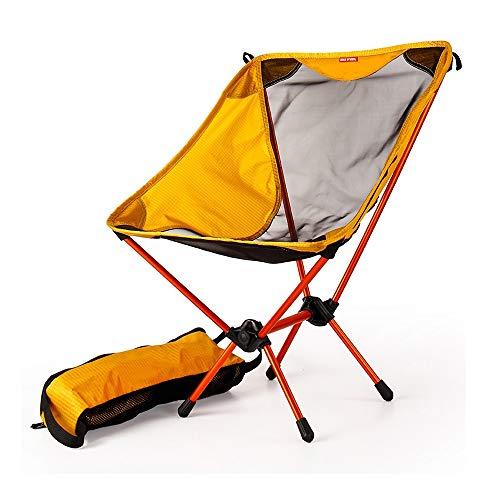 Modenny Garden Gaming Sillas ultraligeras Asiento Amarillo portatil Silla de Pesca Ligera Taburete Que acampa Plegable Muebles de Exterior