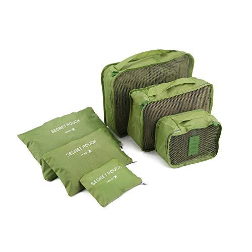 N / E Casa estilo coreano portátil duradero ecológico 6 piezas/set cuadrado de viaje para el hogar bolsas de almacenamiento de equipaje, organizador de ropa de bolsa de bolsa