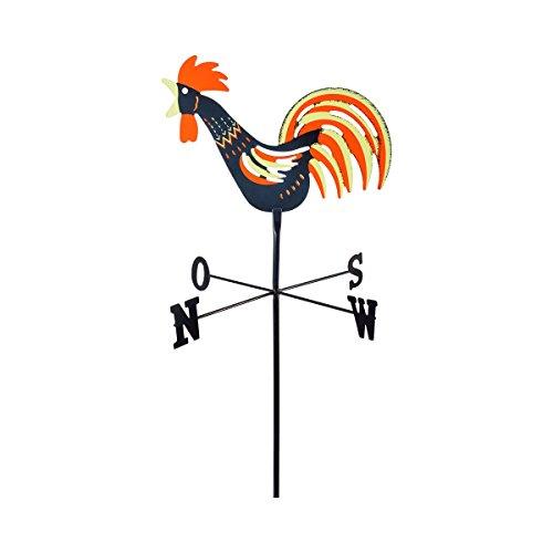TRI Wetterhahn, Windspiel, Windrichtungsanzeiger, Wetterfahne, Windrichtungs und Himmelrichtungsanzeiger, wetterfest, Kunststoff, 44 x 22 cm
