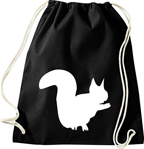 Shirtinstyle Bolso para Deporte, Animales Animal Zoo Paque Zoológico - Squirrel, 46 cm x 36 cm