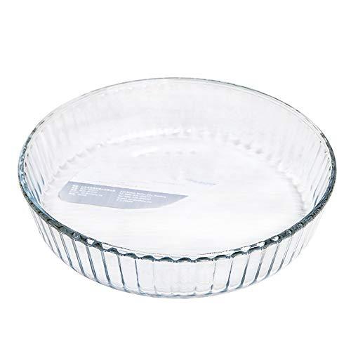 Vobajf Plato para Hornear Asador óptima de Cristal de Alta Resistencia Fácil 2.1L Grip 261x59mm for el hogar Platos de lasaña (Color : Glass Baking Dish, Size : 261x59mm)