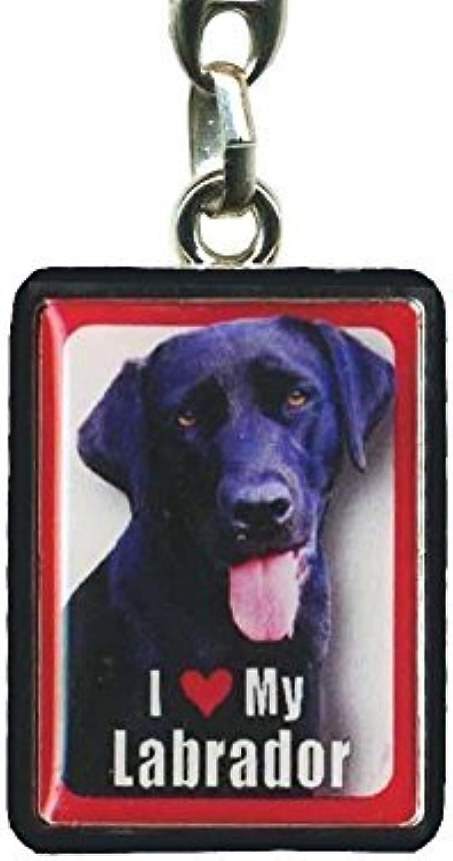 Black Labrador Dog Keyring  4cm x 3cm by Instant Gifts PEK