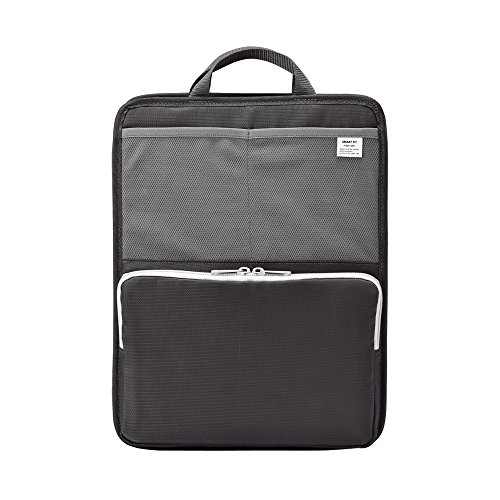 LIHIT LAB Bag Insert for Organization, Holds Laptops & Tablets, 13.5 x 10 inches, Black (A7668-24)