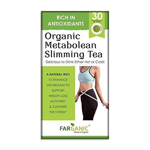 Farganic Organic Metabolean / Metalean Slimming Green Tea for Weight Loss Fast. Rich in Antioxidants, Improves Metabolism, Boost Immunity and Detox Body 30 Tea Bags