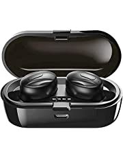 Wireless Headphones, 2021 Updated Wireless Bluetooth 5.1 with Stereo Sound and Microphone for Sports, Waterproof IPX5 with 2000mAh Charging Case for Android IOS-P04