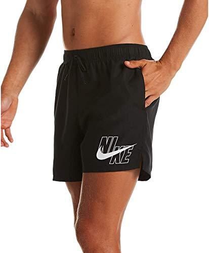 Nike 5 Volley Pantaloncini da Bagno da Uomo, Uomo, Costume da Bagno, NESSA566, Nero, XL