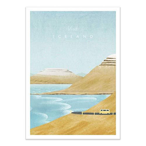 Wall Editions Art-Poster - Visit Iceland - Henry Rivers