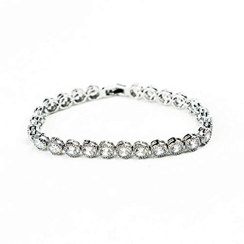 Womens Tennis Bracelet Jewellery - Luxury Zircon Silver Plated Ladies Sparkling Tennis Bracelet - Perfect Gifts for Women