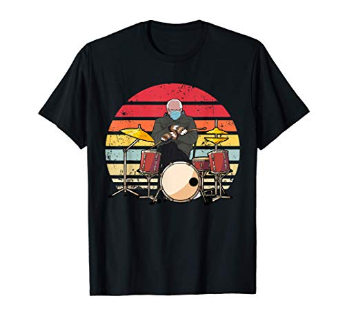 Cozy Bernie Sanders Drum Sitting Inauguration Funny Meme T-Shirt
