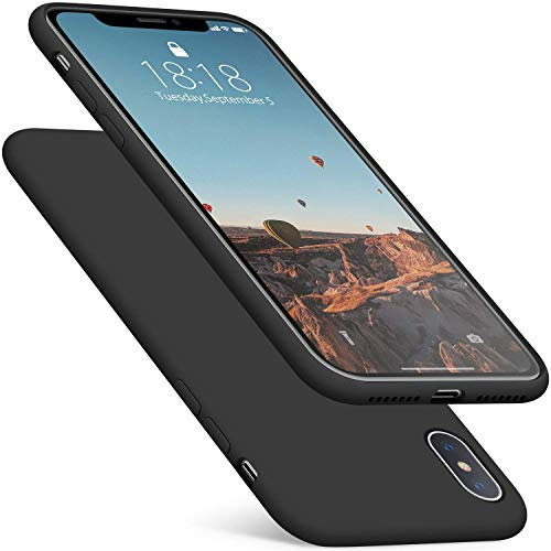 DTTO Compatible with iPhone Xs Max Case, 7 Colors Silicone Case [Romance Series] Slim Fit Cover with Hybrid Protection for iPhone 10s Max 6.5 Inch (2018 Released) - Black
