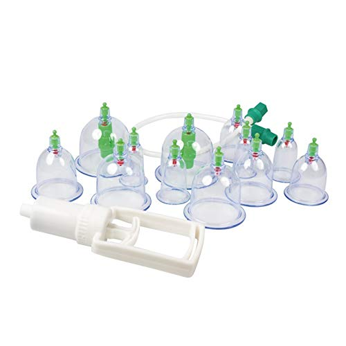 Schröpfen Set, Vakuummassage mit Schröpfgläser aus Plastik (Set 12tlg.)