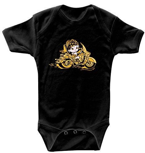 Fan-O-Menal Textilien Babystrampler mit Print – Baby-Biker – 08356 schwarz - Gr. 0-24 Monate Size 12-18 Monate
