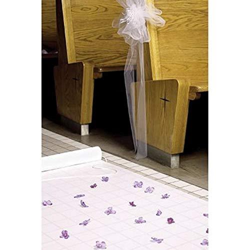 Hortense B. Hewitt Wedding Accessories Fabric Aisle Runner, 100-Feet Long, White