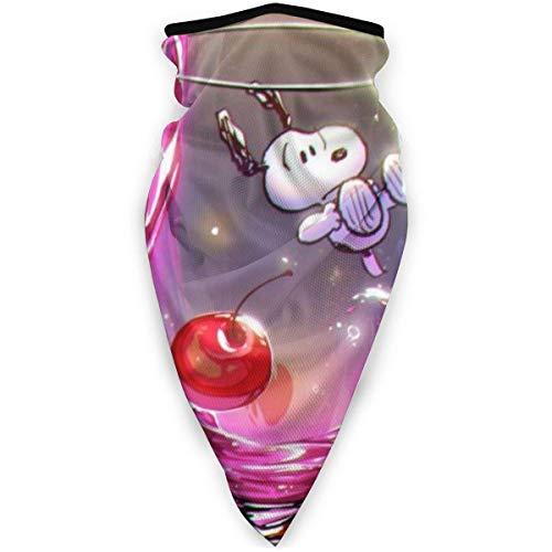 Pañuelo para la cabeza con cubierta de Snoopy de Anime de dibujos animados - Sombreros para exteriores, pañuelo de bufanda, ancho, tubo de pasamontañas multifuncional