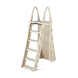 confer plastics a frame 7200 above ground adjustable pool roll guard safety ladder