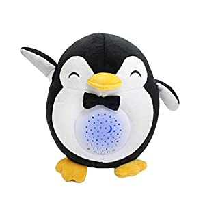 Baby Sleep Soother Penguin, 15 Lullabies, Rechargeable White Noise Machine, Shusher, Portable Night Light Sleep Aid with Cry Sensor and Timer, Baby Boy Gift and Baby Girl Gift