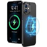 TORRAS Kompatibel mit MagSafe, für iPhone 12 Hülle/iPhone 12 Pro Hülle, Unterstützt 15W Schnellladung, Superdünn Aber Schützend, Magnetischen für Autohalterungen undKühlschränken (Dünn SchwarzHülle