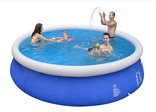SLAYY Piscina inflable, piscinas sobre el suelo, piscina familiar de tamaño completo de 183 x 63 cm, piscina inflable para exteriores