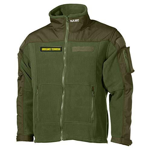 Copytec Combat Fleecejacke Ambulance Technician Sanitäter Notarzt Techniker #33079, Größe:XL, Farbe:Oliv
