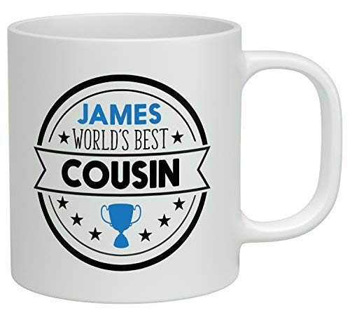 N\A Personalizó Cualquier Taza de té de cerámica de la Taza de café del Mejor Primo del Mundo del Nombre