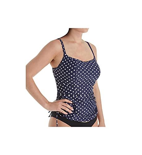 Panache Swim Women's Anya Spot Underwire Tankini, Navy/White Dot, 42H