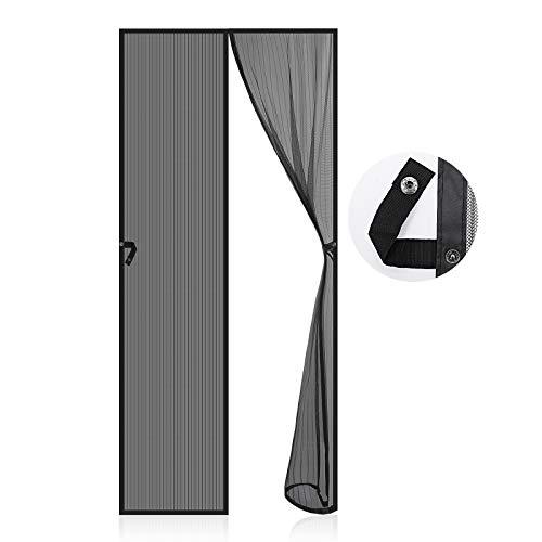 Magnet Fliegengitter Tür, EGNBU Insektenschutz Tür 90x210cm, Magnetvorhang Fliegenvorhang Moskitonetz für Balkontür, Kellertür und Terrassentür, Kinderleichte Klebemontage Ohne Bohren