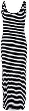 Vero Moda Vmnanna SL Ancle Dress Color Robe décontractée, Noir, XS Femme