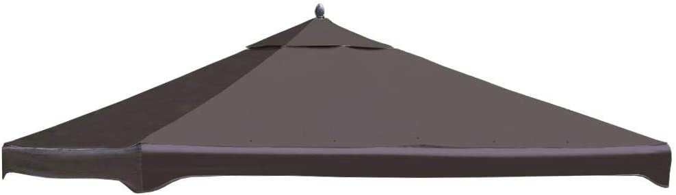 Garden Treasures Brown Polyester Replacement Canopy Top for 10-ft x 12-ft Metal Gazebo Item# 57295 Model# C-1210GZN UPC# 769455757111