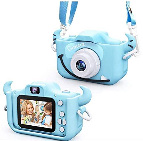Cámara de vídeo para niños y niñas, cámara digital dual de 2 pulgadas, 20,0 MP, 1080P, anticaída, cámara de fotos de dibujos animados, tarjeta de memoria de 32 GB