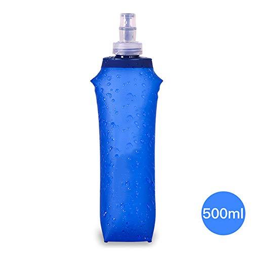 AMAIRS Draagbare Zachte Water Fles, Vouwen Sport Waterzak met Rietje voor Outdoor Fietsen Drinkwater Container 500ML