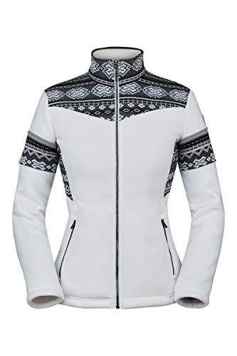 Spyder Damen Bella Full Zip Jacke, White, XL