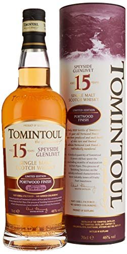 Tomintoul 15 Years Old Portwood Finish Whisky mit Geschenkverpackung (1 x 0.7 l)