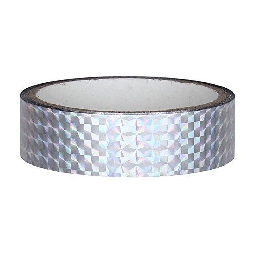Hologramm Deko Klebeband 25mm x 30m für Hula Hoop, SILBER