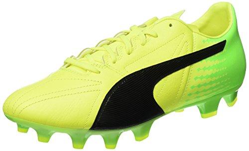 Puma Evospeed 17.2 LTH FG, Botas de fútbol para Hombre, Amarillo (Safety Yellow Black-Green Gecko 01), 44 EU