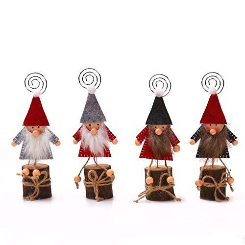 WCDF Dekorationsgegenstände, Holzprodukte, Weihnachtsdekoration, für Visitenkarten, kreativ, Note, Ornamente, Clip, für Foto, Ordner, in vier Sets WCDF, Dekorationsgegenstände