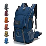MOUNTAINTOP 40L Hiking Backpack with Rain Cover Water Resistant Mens women Rucksack Trekking