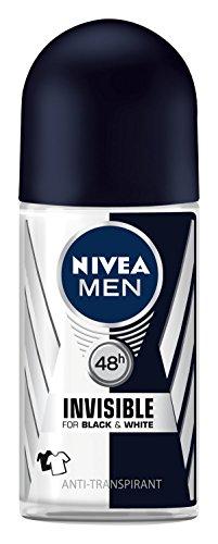 Nivea Men Invisible For Black & White Power Deo Roll-on, Antitranspirant, 3er Pack (3 x 50ml)