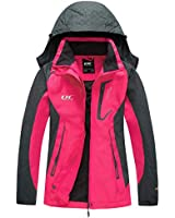 Women's Hooded Waterproof Jacket-Diamond Candy lightweight Softshell Casual Sportswear Hot Pink Small