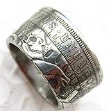 jooact Hobo 1896 Morgan Dollar Coin Ring Silver Plated Handmade Handcraft Ring