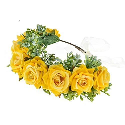 Shiwaki - Tocado de Corona Hecho a Mano, Diadema de Flores, Accesorios...